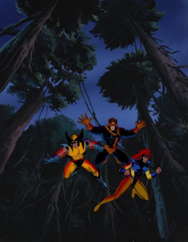 X-Men Production Cel & Background - ID: xmen3608 Marvel