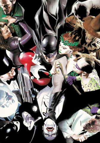 Joker's Reckoning Signed Giclee on Canvas Print - ID: AR0312DC Alex Ross