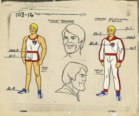 Captain Caveman Model Cel - ID: aprcaveman21005 Hanna Barbera