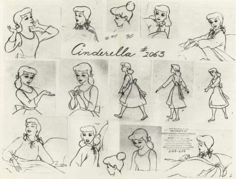 Cinderella Photostat Model Sheet - ID: aprcinderella21180 Walt Disney
