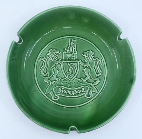 Disneyland Souvenir Large Green Ashtray - ID: aprdisneyland21337 Disneyana