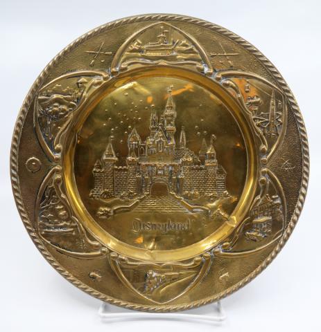 Disneyland Souvenir Brass Hanging Plate - ID: aprdisneyland21341 Disneyana