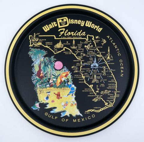 Walt Disney World Souvenir Metal Serving Tray - ID: aprdisneyland21349 Disneyana
