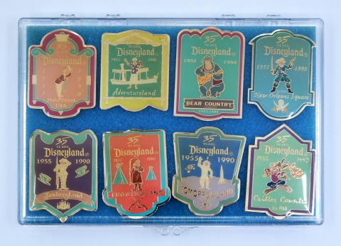 Disneyland 35th Anniversary Cast Member Pin Set - ID: aprdisneyland21362 Disneyana