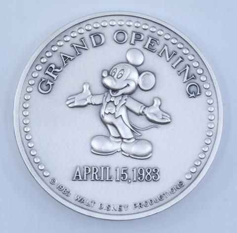 Tokyo Disneyland Resort Grand Opening Medallion - ID: aprdisneyland21371 Disneyana