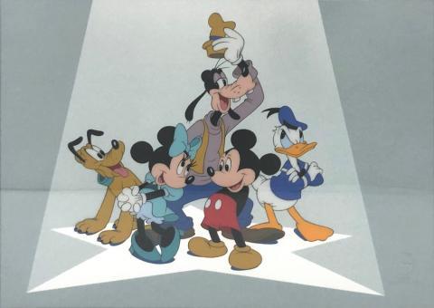 The Fabulous Five Mickey and Friends Sericel - ID: aprmickey21185 Walt Disney