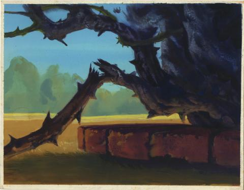 Secret of Nimh Background Concept Drawing - ID: aprnimh21071 Don Bluth