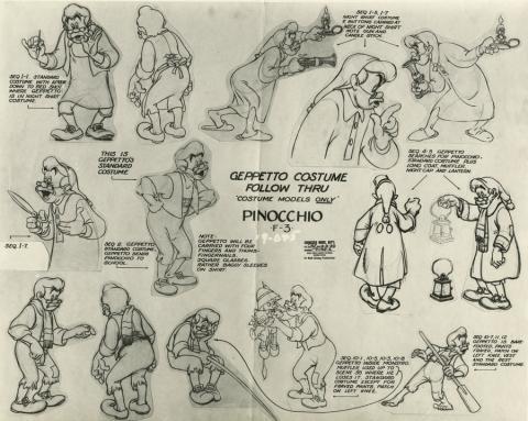 Pinocchio Photostat Model Sheet - ID: aprpinocchio21136 Walt Disney
