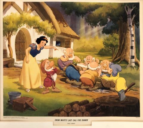 Snow White and the Seven Dwarfs Lithograph Print - ID: aprsnowwhite21191 Walt Disney