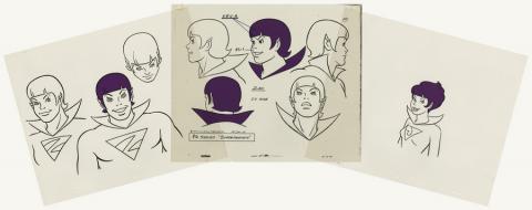 Set of 3 Super Friends Model Cels - ID: aprsuperfriends21001 Hanna Barbera