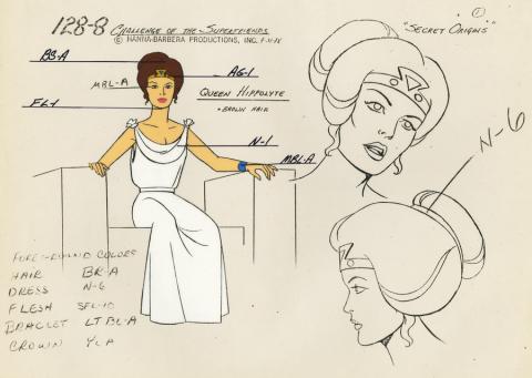 Challenge of the Super Friends Model Cel - ID: aprsuperfriends21026 Hanna Barbera