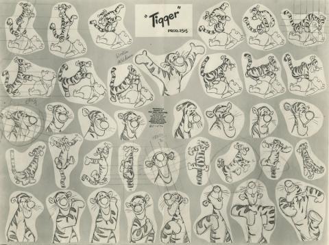 Tigger Photostat Model Sheet - ID: aprtigger21141 Walt Disney