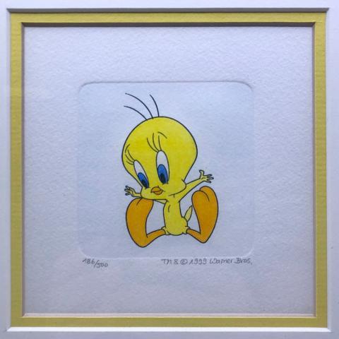 Tweety Bird Etching - ID: aprtweety21202 Warner Bros.