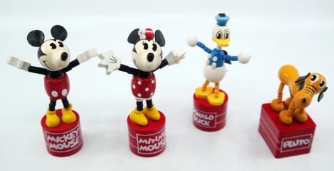 Mickey and Friends Wooden Push Puppets - ID: augdisneyana20023 Disneyana