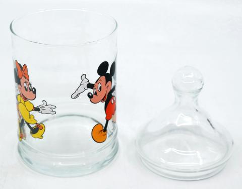 Mickey and Minnie Glass Candy Jar - ID: augdisneyana20056 Disneyana