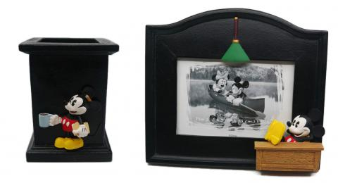 Mickey Mouse Desk Frame & Pencil Holder - ID: augdisneyana20064 Disneyana