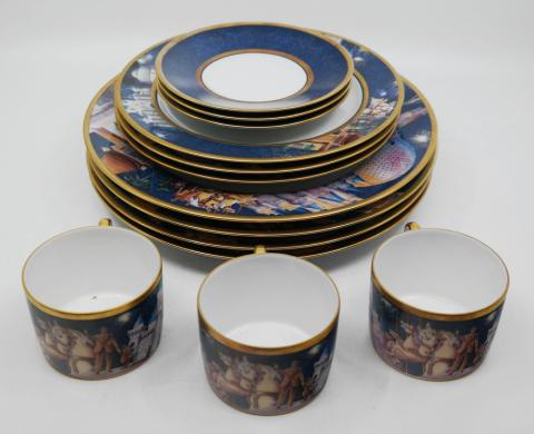 Disneyland Randy Souders Dishware Set - ID: augdisneyana20076 Disneyana