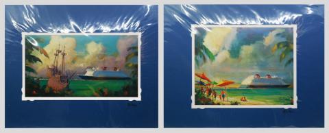 Castaway Cay Disney Cruise Line Art Print Set - ID: augdisneyana20136 Disneyana