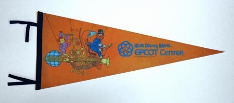 1982 WDW Figment Epcot Center Pennant - ID: augdisneyana20150 Disneyana