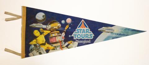 1986 Star Tours Disneyland Pennant - ID: augdisneyana20152 Disneyana