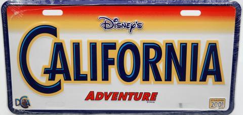 California Adventure Vanity License Plate - ID: augdisneyana20159 Disneyana