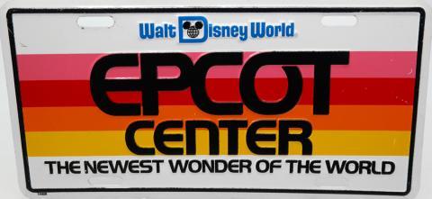Epcot Center Vanity License Plate - ID: augdisneyana20160 Disneyana
