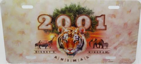 2001 Animal Kingdom Vanity License Plate - ID: augdisneyana20161 Disneyana
