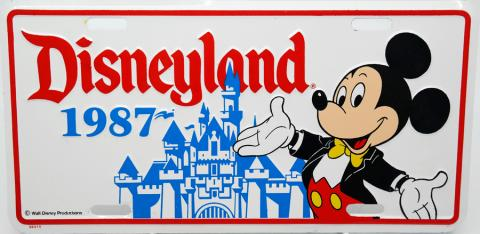 Disneyland 1987 Novelty License Plate - ID: augdisneyana20166 Disneyana