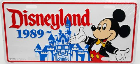 Disneyland 1989 Novelty License Plate - ID: augdisneyana20170 Disneyana