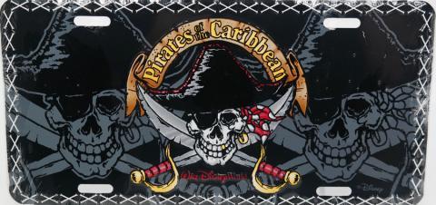 Pirates of the Caribbean Novelty License Plate - ID: augdisneyana20172 Disneyana