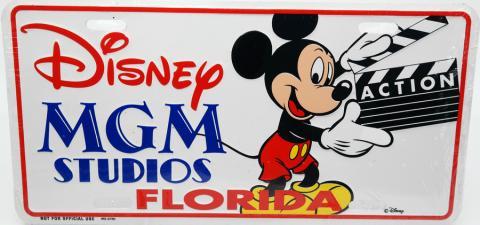 Disney MGM Studios Florida Novelty License Plate - ID: augdisneyana20174 Disneyana
