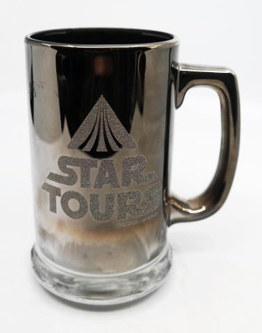 Star Tours 1986 Chromed Glass Mug - ID: augdisneyana20185 Disneyana