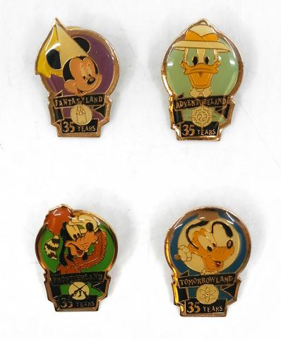 35th Anniversary Disneyland Lands Pin Collection - ID: augdisneyana20191 Disneyana