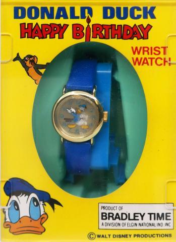 1984 Happy Birthday Donald Duck Watch - ID: augdisneyana20210 Disneyana