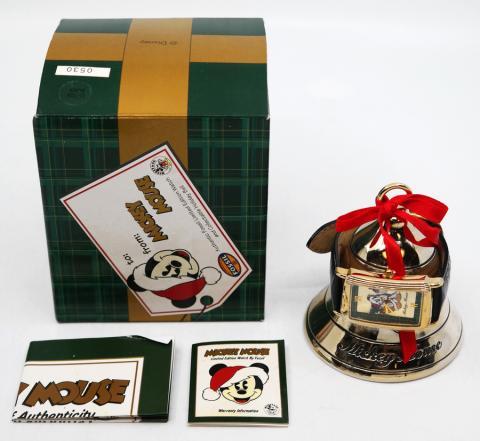 Limited Edition Santa Mickey Watch & Bell by Fossil - ID: augdisneyana20215 Disneyana