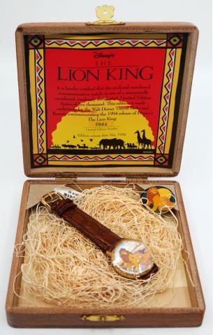 Limited Edition The Lion King Watch & Pin Set - ID: augdisneyana20216 Disneyana