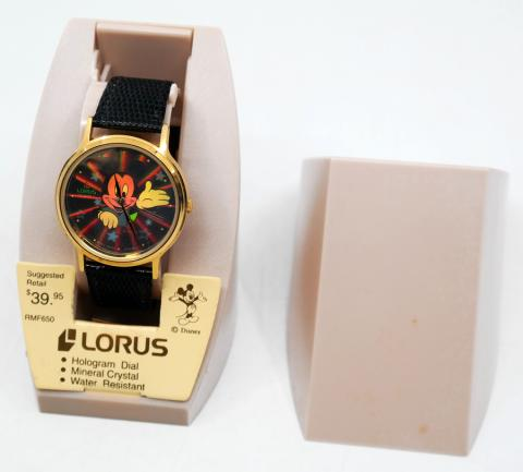1980s Mickey Mouse Hologram Dial Watch by Lorus - ID: augdisneyana20217 Disneyana