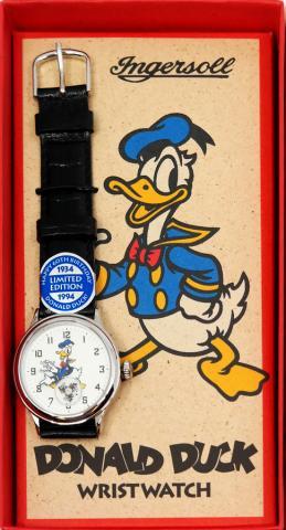 1994 Ingersoll Donald Duck Wrist Watch - ID: augdisneyana20226 Disneyana