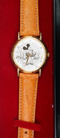 Mickey 60 Years Monochromatic Gold Tone Watch - ID: augdisneyana20232 Disneyana