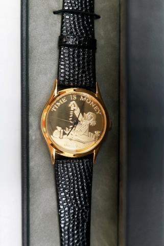 Scrooge McDuck Time is Money Watch - ID: augdisneyana20238 Disneyana