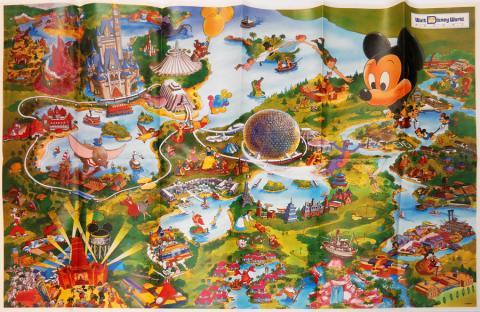 Walt Disney World 1992 Illustrated Resort Map - ID: augdisneyana20251 Disneyana