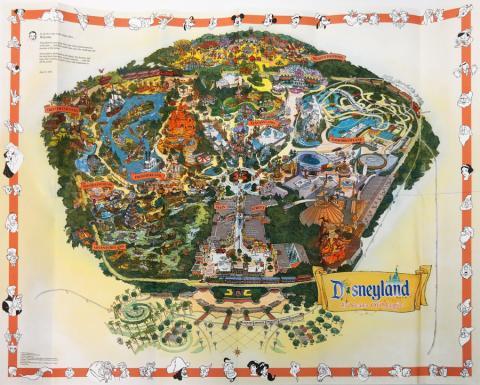 "Disneyland ""45 Years of Magic"" 2000 Map - ID: augdisneyana20252 Disneyana"