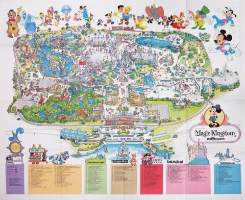 Magic Kingdom 1979 WDW Map - ID: augdisneyana20255 Disneyana