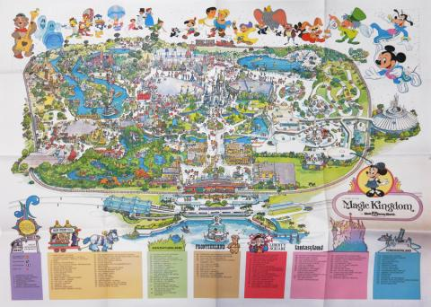 Magic Kingdom 1979 WDW Map - ID: augdisneyana20256 Disneyana