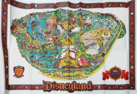 Disneyland 1987 Map - ID: augdisneyana20258 Disneyana