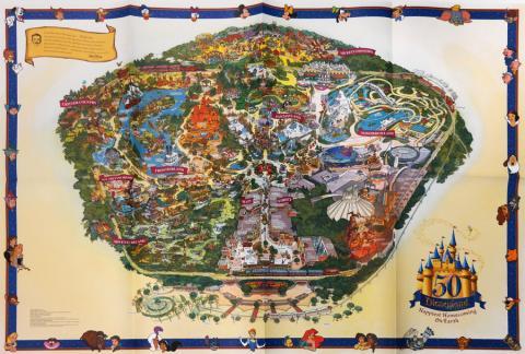 Disneyland 50th Anniversary 2005 Map - ID: augdisneyana20260 Disneyana