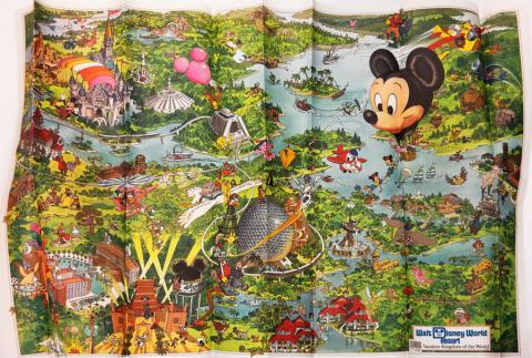 Walt Disney World 1990 Illustrated Resort Map - ID: augdisneyana20261 Disneyana