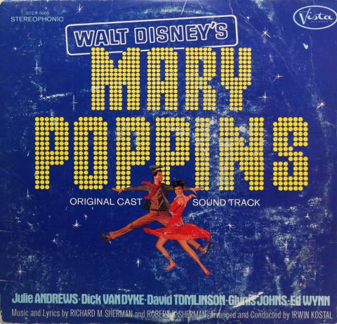 1973 Mary Poppins Original Cast Soundtrack - ID: augdisneyana20263 Disneyana