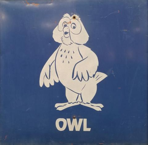 Disneyland Owl Parking Lot Sign - ID: augdisneyland20022 Disneyana