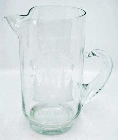 Disneyland Castle Etched Glass Pitcher - ID: augdisneyland20055 Disneyana
